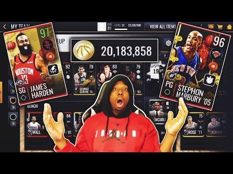 MASSIVE 12 MILLION COIN NBA LIVE MOBILE 19 SHOPPING SPREE!!!