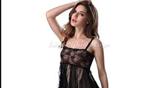 Women Sexy Sleepwear Nightwear Lace Mini robes satin nightgown