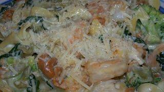 Tri Pasta, Chicken, Shrimp, Alfredo, Spinach Mozz, Cream 2/2 Chef John The Ghetto Gourmet Show Ii