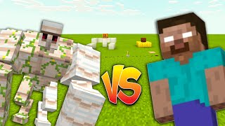 Mega Iron Golem vs Herobrine in Minecraft