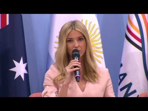 Ivanka Trump takes the stage at the G-20