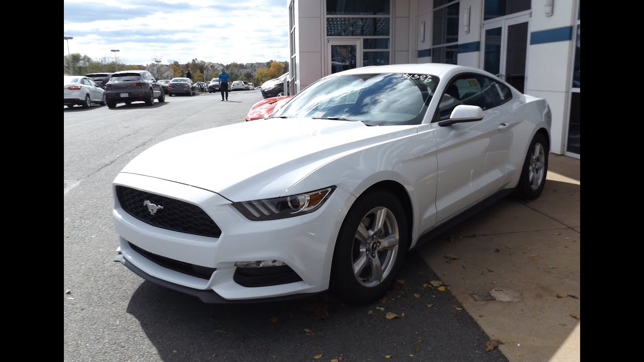 Ford 3.7 V6 >> 2015 Ford Mustang V6 Start Up, Tour, and In Depth Review ...