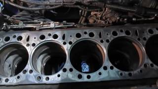Motor INSON silindir blok ta'mirlash D2866. Video