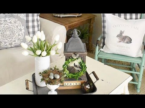 Farmhouse Spring Decor on a Budget ( home tour)