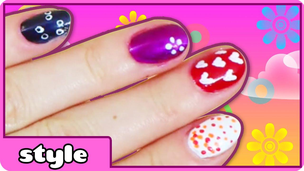 DIY Easy Nail Art | Toothpick nail art Designs | Easy Nail ...