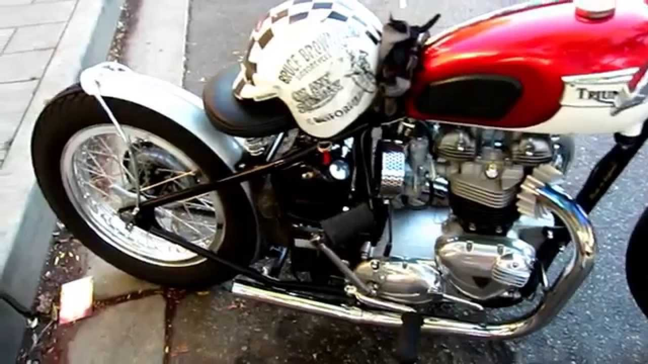 Rare Vintage Triumph Motorcycle You