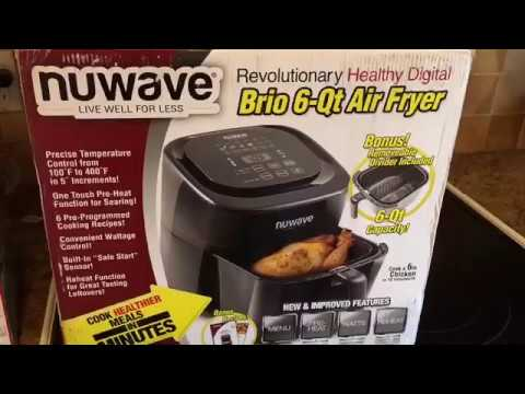 Nuwave 6 qt Air Fryer Review.