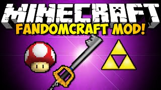 Minecraft FandomCraft Mod: KINGDOM HEARTS, ZELDA, MARIO, & MORE! (HD)