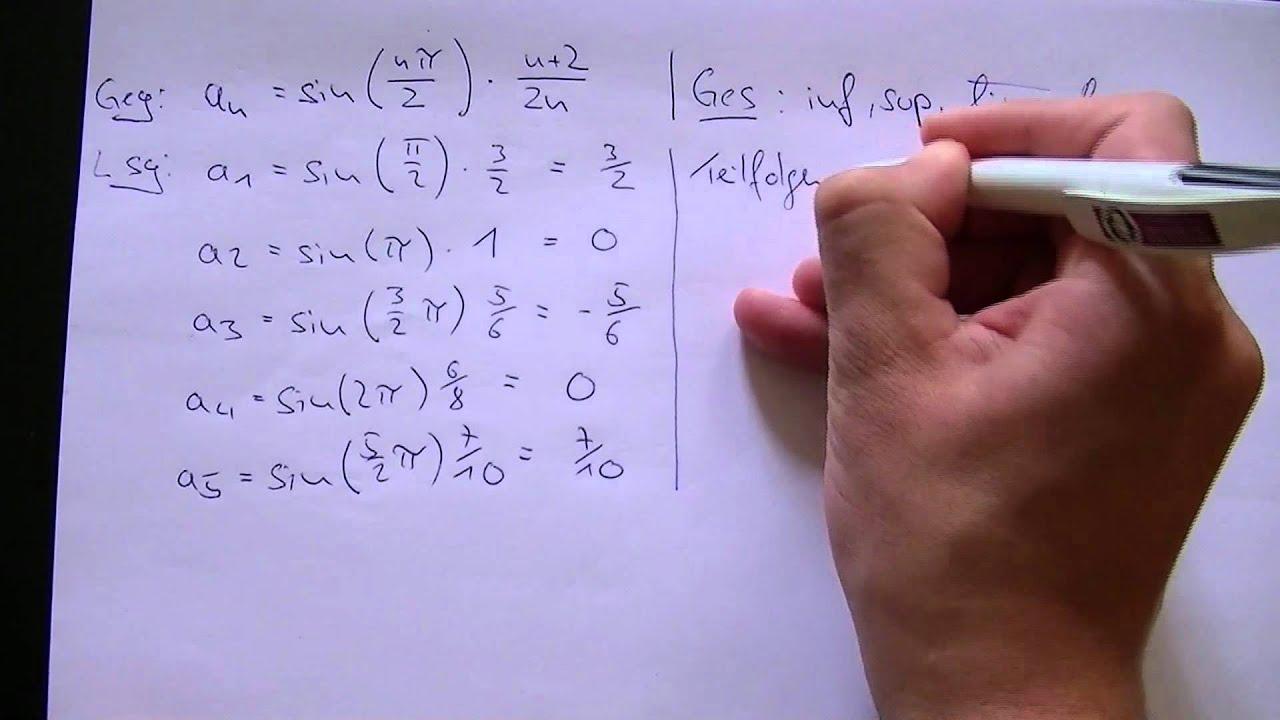 Häufungspunkte einer Folge. (limsup, liminf) - YouTube