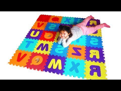 Öykü  Is Learning The Alphabet With Colorful Letters Fun Kids Video