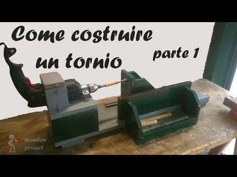 Creare con il legno con un tornio fatto con un trapano doovi - Tornio per legno fatto in casa ...