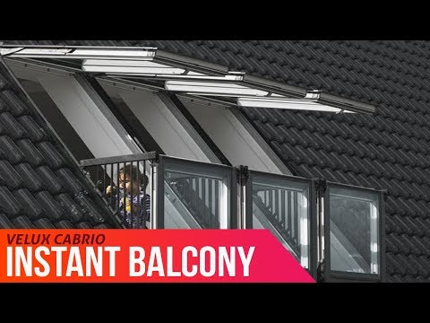 Enjoy A Balcony Instantly - VELUX CABRIO® Goes From Roof Window To Balcony In Seconds