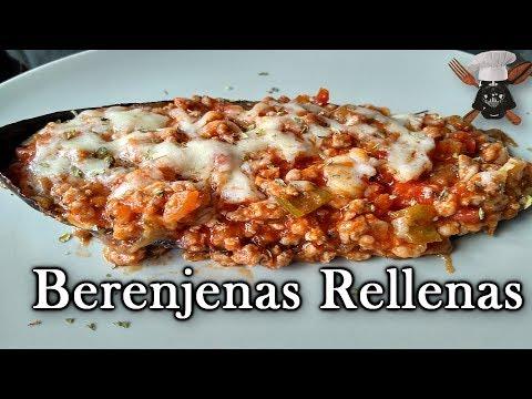 Berenjenas Rellenas   Con aceite y sal