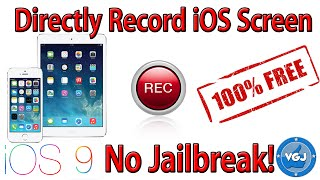 How to Directly Record Your iPhone or iPad Screen For Free Without Jailbreak (iOS 9, 9.1, 9.2, 9.3)(Learn how to record your screen from your mobile device, any iOS device including iPhone, iPod, iPad (all iOS9) for free without jailbreaking. This record directly ..., 2016-01-04T20:20:36.000Z)