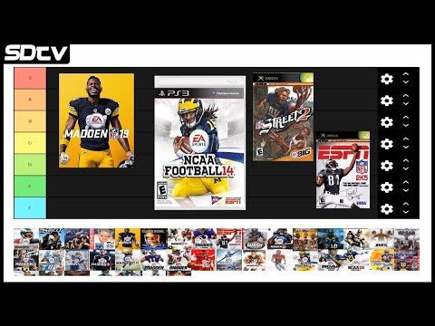 Football Video Game TIER LIST