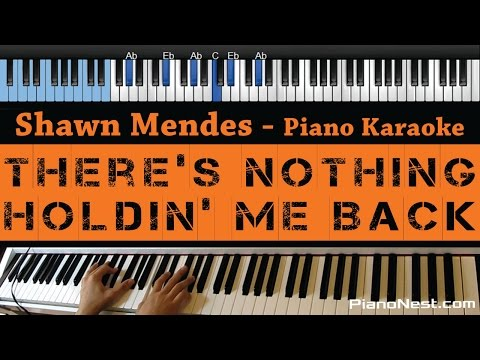 Shawn Mendes -There's Nothing Holdin' Me Back - LOWER Key (Piano Karaoke / Sing Along)