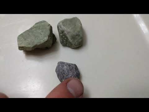 epidote vs serpentine and lepidolite