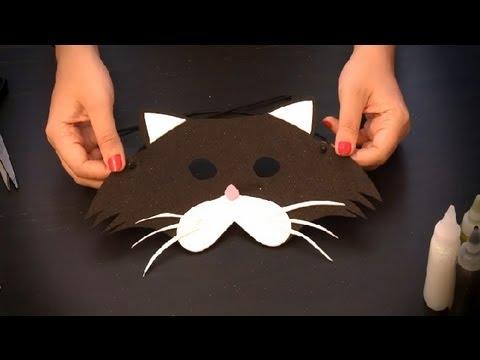 cmo hacer un antifaz de gato antifaces de animales para nios