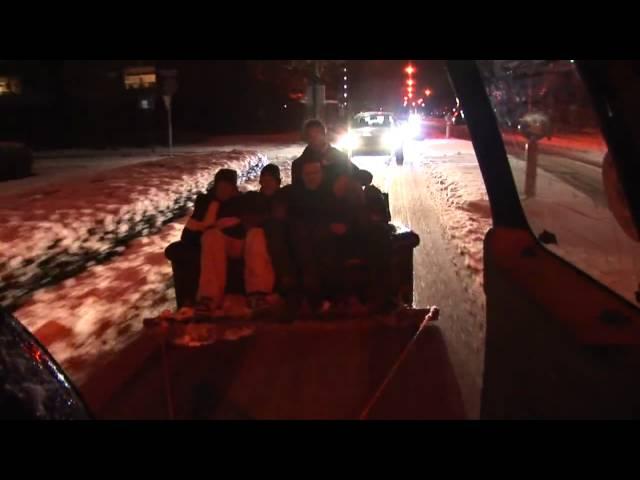 Sneeuw op de bank met Leonard 2010