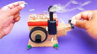 How To Make A Diesel Engine Model Shool Science Project | Mini Diesel Engine From Cardboard DIY