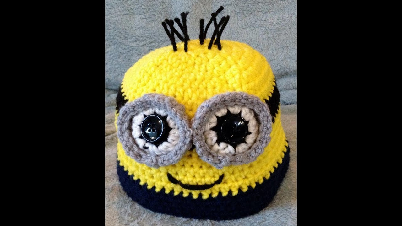 Small Minion Eye Tutorial | Crochet - YouTube