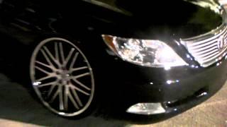 DUBSandTIRES.com 2011 Lexus LS 460 Review 22'' Lexani Machined Wheels Asanti Forgiato TSW Wheels