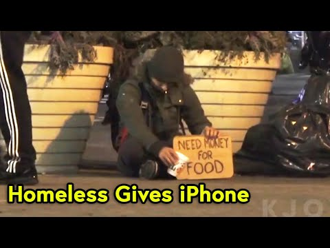 HOMELESS APPLE IPHONE X EXPERIMENT