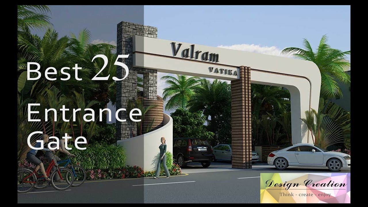 Best Modern Entrance gate 3D elevation l Design Creation l ... on Modern Entrance Design  id=65795