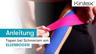 Kintex® Anleitung Kinesiologie Tapen bei Schmerzen am Ellenbogen Tennisarm  Epicondylitis lateralis