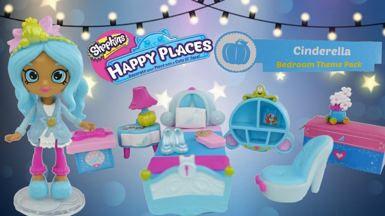 DISNEY Shopkins Happy Places Cinderella Bedroom Theme Pack ...