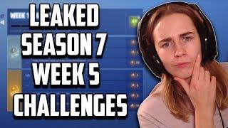 LEAKED Season 7 Week 5 Challenges - Fortnite Battle Royale