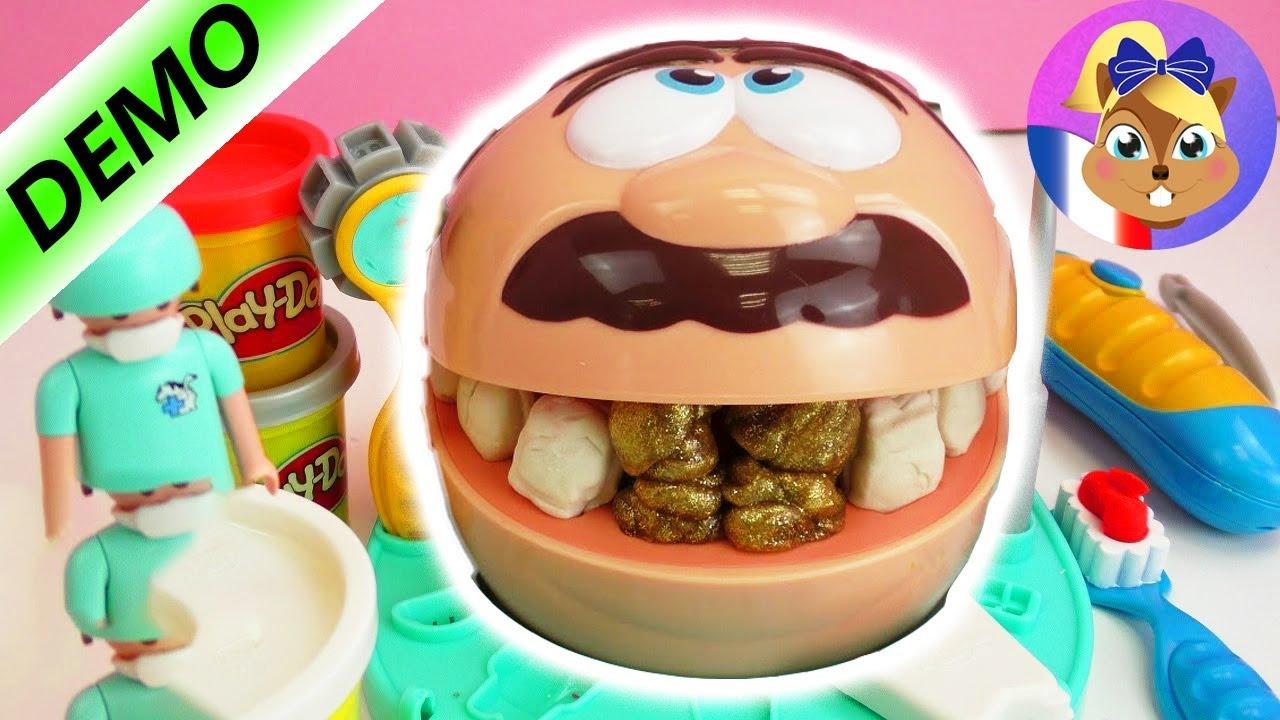 Le Dentiste travaille avec de la pâte à modeler Play Doh et fait des dents (Français) - YouTube