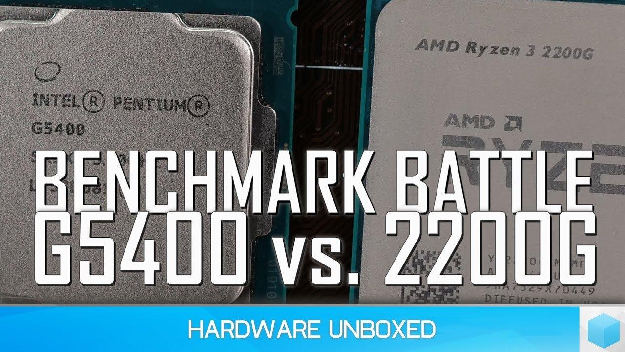 Pentium Gold G5400 vs. Ryzen 3 2200G, The BEST Value CPU ...