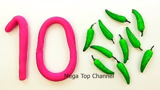 Learn to count from 1 to 20 | Make Play Doh numbers | Learn Colors with Play Doh Compilation
