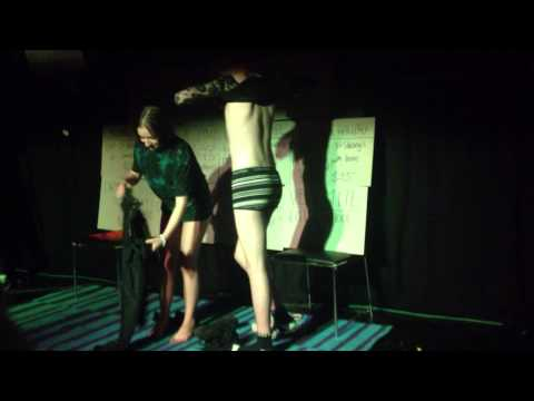 Girl swaps clothes with boyfriend at Nightclub