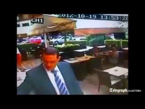 Beirut car bomb blast captured on CCTV