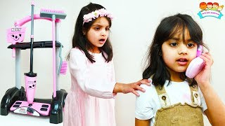 Ashu and Cutie Cleans House Pretends Play with Cleaning Toys for Kids | Katy Cutie Show