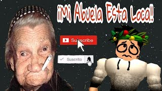 escapes from my crazy grandmother 😵 - ROBLOX - Jony San