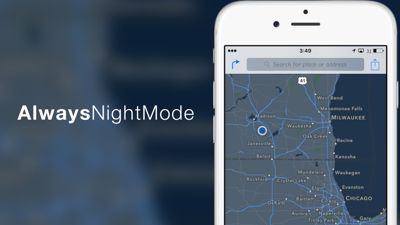 Alwaysnightmode Apple Maps Night Mode Tweak Youtube