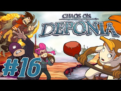 Deponia: The Complete Journey Part 16 - THE FLOATING BLACK MARKET (Story Adventure)  
