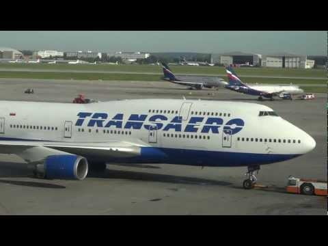 Boeing 747 -Transaero Трансаэpo, Sheremetyevo International Airport