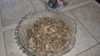 Вкуснейший салат из печени (говяжьей).