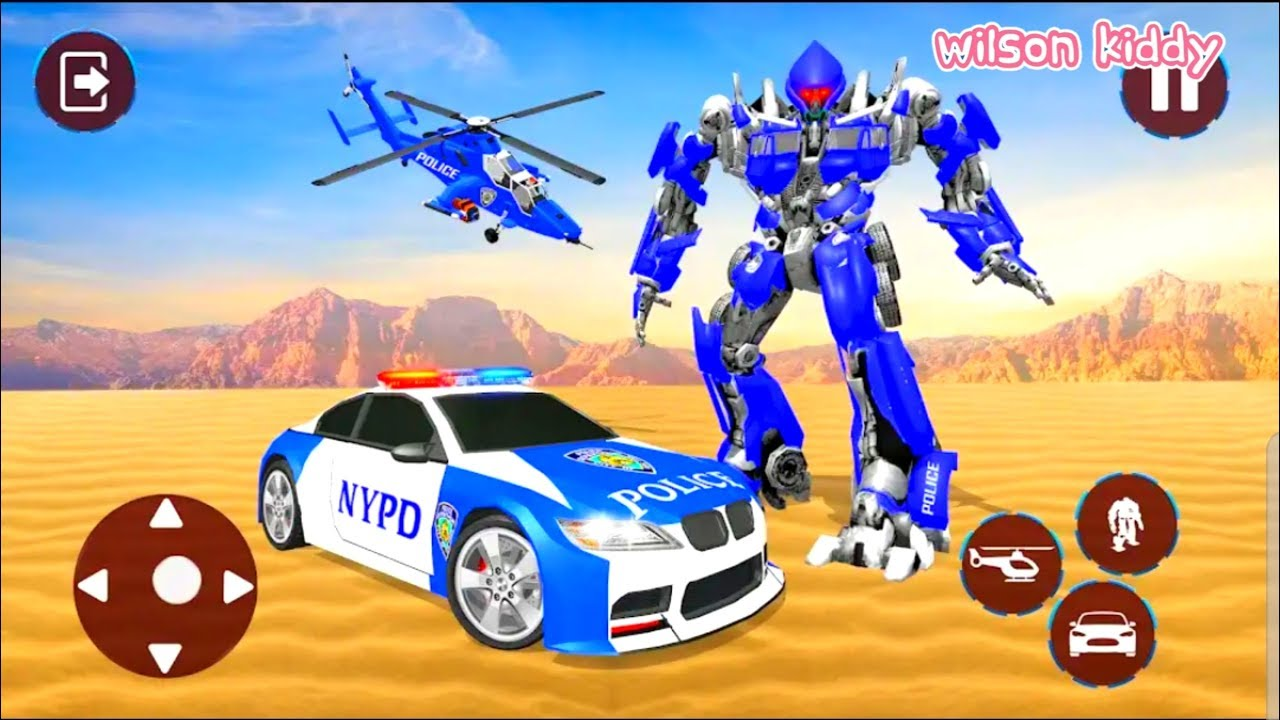 Game Robot Transformers Helikopter Dan Mobil Balap Game Wilson Kiddy Robot Helikopter Youtube