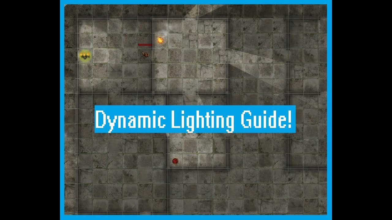 Dynamic Lighting and Token Tips for Roll20 - YouTube