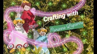 Corinne Lapierre Wollfilz rechteckig 22,9 cm Christmas