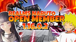 {OPEN MEMBER REALMS} -NARUTO REALM MCPE- #openmember #realms #mcpe
