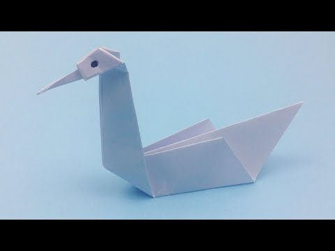 DIY 3D Origami Swan Tutorial: How to Make Easy Origami Swan | Paper Crafts Swan for Room Decoration