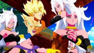 Dragon Ball FighterZ - Android 21 (Good) Interactions With Z-Fighters【60FPS 1080P】