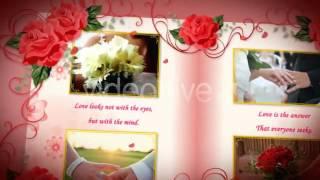 Слайд шоу -  Свадебный альбом Красные Розы