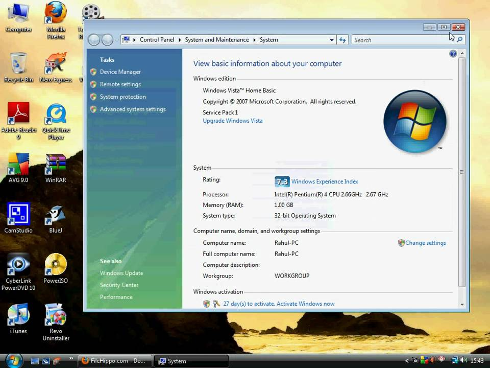 Increase your Windows Experience Index points(vista & Windows 7)